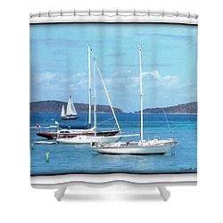 Shower Curtain featuring the photograph St-thomas Virgin Islands Trio by Danielle  Parent