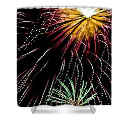 Staccato Shower Curtain by Lynne Jenkins