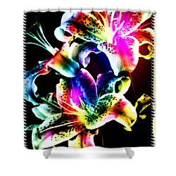Stack Of Stargazers Dreaming Shower Curtain by Mick Anderson
