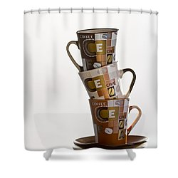 Stack Them Up Shower Curtain by Evelina Kremsdorf