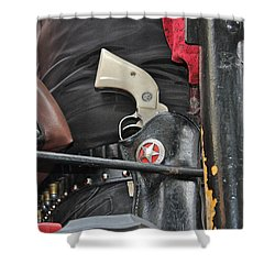 Shower Curtain featuring the photograph Stagecoach Guard by Bill Owen