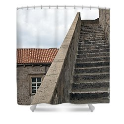 Stairway In Dubrovnik Shower Curtain by Madeline Ellis