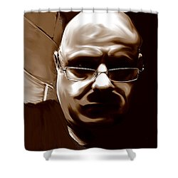 Shower Curtain featuring the mixed media Stalker IIi  by Terence Morrissey