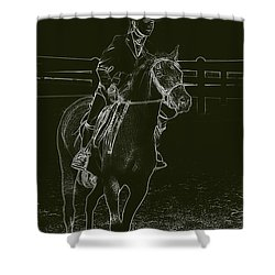 Stand Out Glowing Duo Shower Curtain by Karol Livote