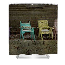 Standing For All Colours  Shower Curtain by Empty Wall