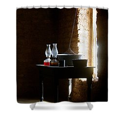 Shower Curtain featuring the photograph Standing In The Shadow Of Time by Vicki Pelham