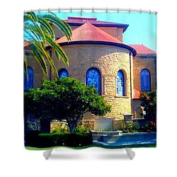Stanford University Chapel - Palo Alto Ca Shower Curtain by Anna Porter