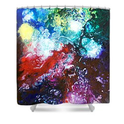Star Clusters Shower Curtain by Sally Trace