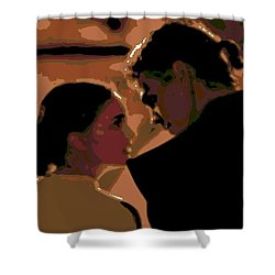 Star Crossed Lovers Shower Curtain by George Pedro