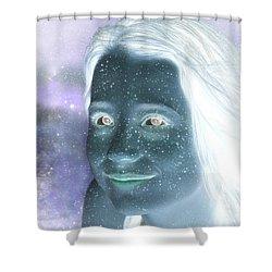 Star Freckles Shower Curtain by Nikki Marie Smith