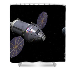 Starboard Side Of The Next Generation Shower Curtain by Walter Myers