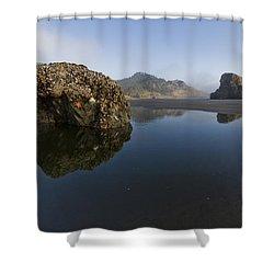 Starfish Beach Shower Curtain by Debra and Dave Vanderlaan