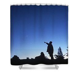 Stargazing Shower Curtain by Science Source