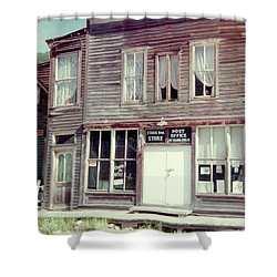 Shower Curtain featuring the photograph Stark Bros Store by Bonfire Photography