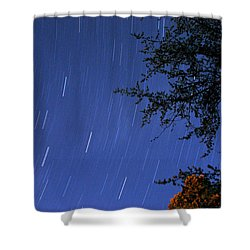 Stars Falling Shower Curtain by Kay Lovingood