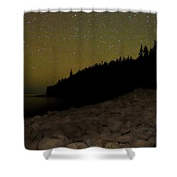 Stars Over Otter Cliffs Shower Curtain by Brent L Ander