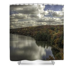 Starved Rock Fall Colors Shower Curtain