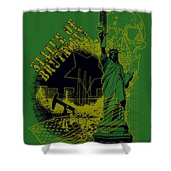 Statue Of Brutality  Shower Curtain