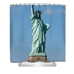 Statue Of Liberty Iv Shower Curtain by Clarence Holmes