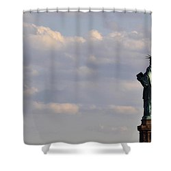 Shower Curtain featuring the photograph Statue Of Liberty by Zawhaus Photography