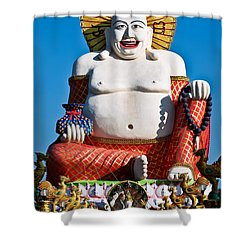 Statue Of Shiva Shower Curtain by Adrian Evans