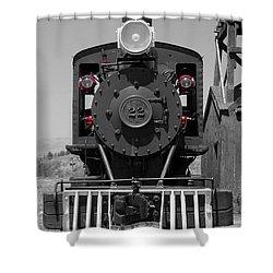 Shower Curtain featuring the photograph Steam Engine Train by Deniece Platt