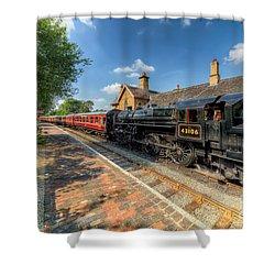 Steam Train Shower Curtain by Adrian Evans