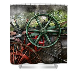 Steampunk - Machine - Transportation Of The Future Shower Curtain by Mike Savad