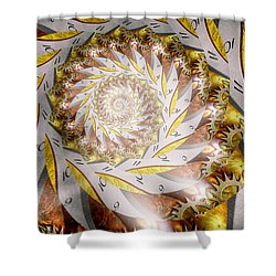 Steampunk - Spiral - Time Iris Shower Curtain by Mike Savad