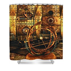 Steampunk Time Lab Shower Curtain