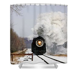 Steamtown Excursion Train Shower Curtain by Michael P Gadomski and Photo Researchers