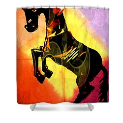 Steed 3 Shower Curtain by Amber Stubbs