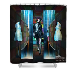 Steel Eyes Mannequin Shower Curtain