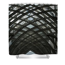 Steel Shower Curtain by Joseph Yarbrough