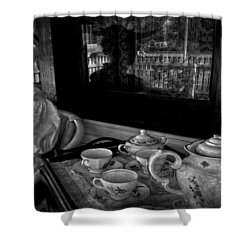 Steeped Tea Shower Curtain by Empty Wall