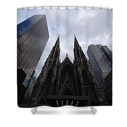 Shower Curtain featuring the photograph Steeples by John Schneider
