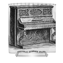 Steinway Piano, 1878 Shower Curtain by Granger