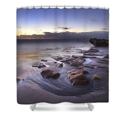 Stepping Stones Shower Curtain by Debra and Dave Vanderlaan