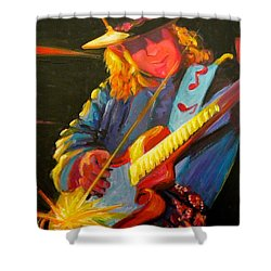 Stevie Ray Vaughn Shower Curtain by Jeanette Jarmon