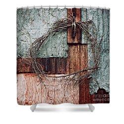 Still Decorated With A Wreath Shower Curtain by Priska Wettstein