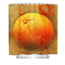 Still Life Orange Abstract Shower Curtain by Andee Design