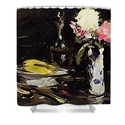Still Life Shower Curtain by Samuel John Peploe