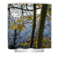 Still Waters In The Fall Shower Curtain