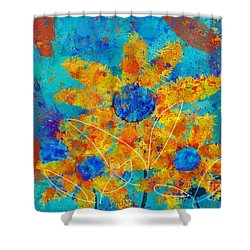 Stimuli Floral S01 Shower Curtain by Variance Collections