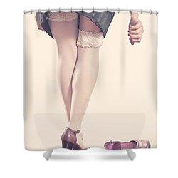 Stockings Shower Curtain by Joana Kruse
