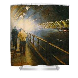 Stockton Tunnel Shower Curtain by Meg Biddle