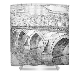 Stone Bridge Shower Curtain