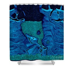 Stone Men 28c2b - Celebration Shower Curtain by Variance Collections