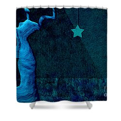 Stone Men 30-33 C02c - Les Femmes Shower Curtain by Variance Collections