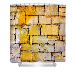Stone Wall Shower Curtain by Carlos Caetano